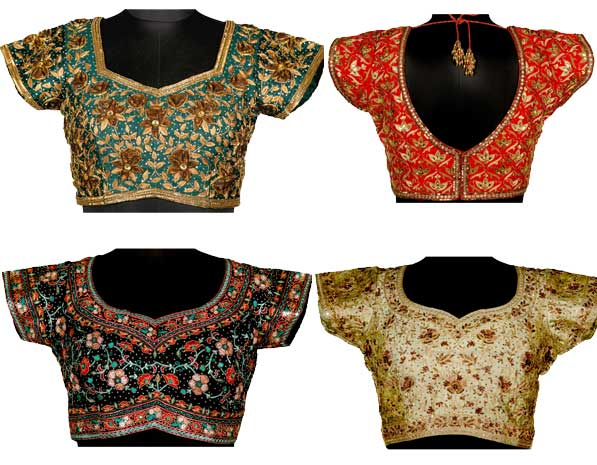 Different Designer Blouse Styles with Indian Sarees