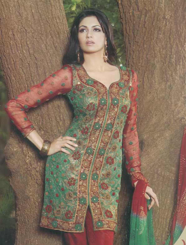 embroidered salwar