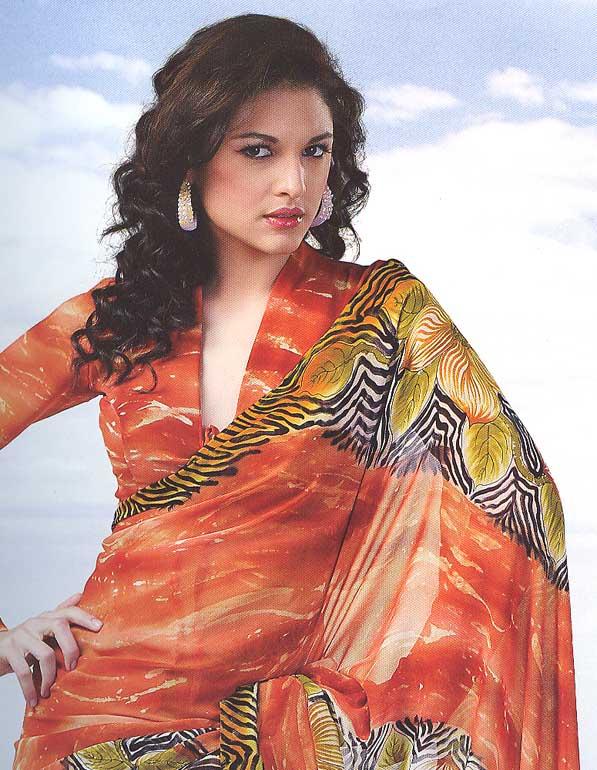 printed sarees