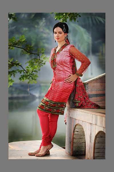 Pink Crepe Gorgeous Wedding Salwar Suit