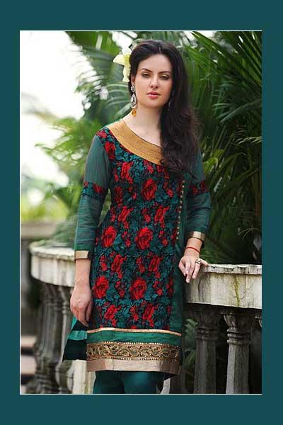 Sahlwar Suit for wedding occasion in bondi blue color