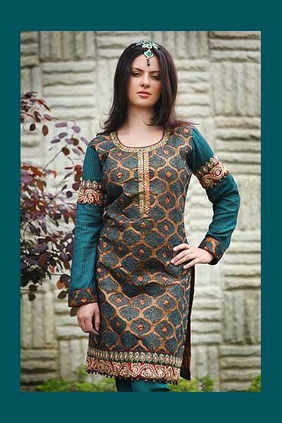 Bondi Blue Salwar kameej with Heavy embroidery work