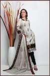 White and Black Cotton embroidered Party Salwar Kameez
