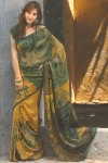 Pure Georgette Abstract Printed Saree