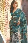 Pure Georgette Saree in Bondi Blue Color