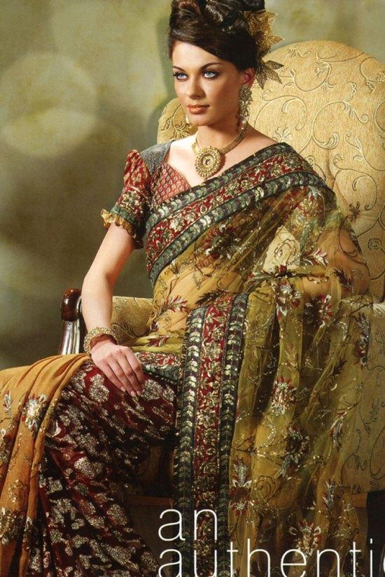 saree design 2010 in crepe wedding saree