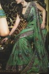latest saree design 2010 with heavy embroidery work