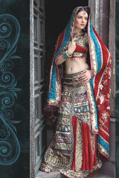 Latest Lehenga Choli Design in Red Color in Georgette Fabric
