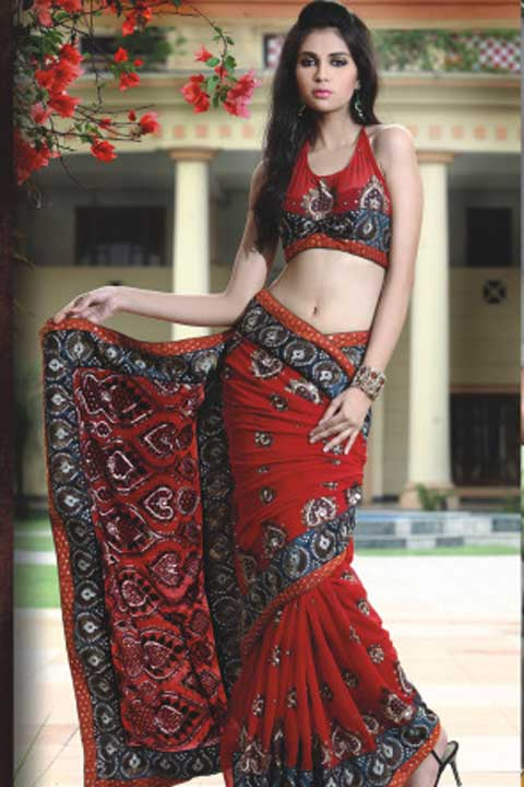 Latest Pure Georgette Saree Fashion 2010