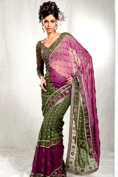 Latest Pink Designer Sarees Collection