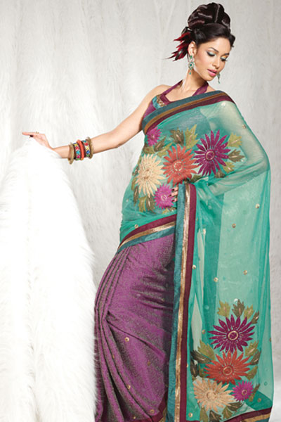 Latest Embroidered Designer Sarees Collection 2010