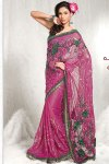 Latest Pink Designer Saree with Matching Blouse