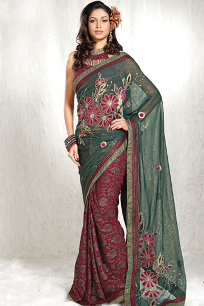 Latest Party Designer Saree 2010