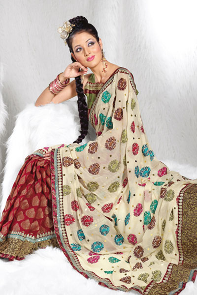 Latest Embroidered Designer Saree Collection 2010