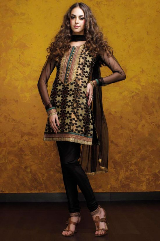 Latest Black Cotton Salwar Kameez Design