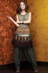 New Black Cotton Embroidered Salwar Kameez