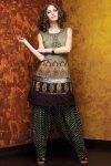 New Black Cotton Embroidered Salwar Kameez