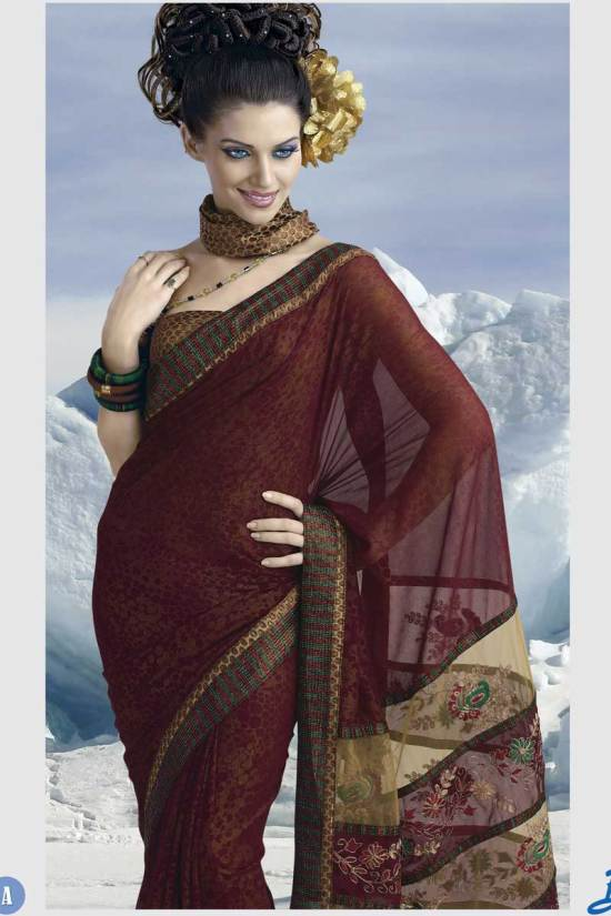 Latest Georgette Bollywood Saree