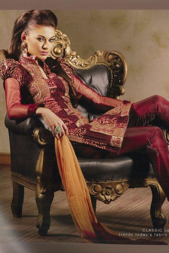 Latest Salwar Kameez in Marron Color