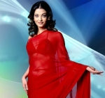 aishwariya in red saree