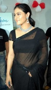 kajol- n-a black saree