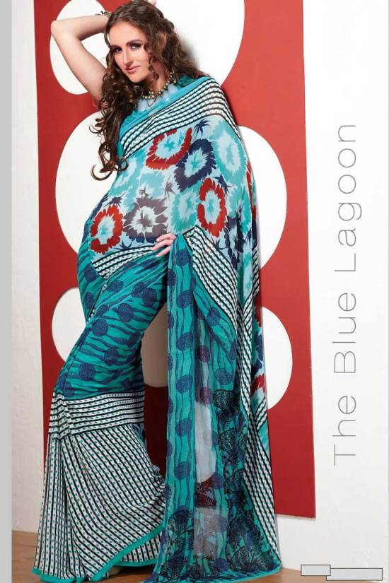 Gorgeous Party wear Printed Sarees 2010