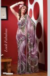 Multicolor Faux Georgette Printed Saree