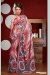 Latest Digital Printed Faux Georgette Saree 2010