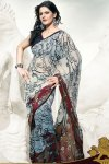 White Georgette Saree 2010
