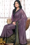 Georgette Shimmer Saree 2010 with Embroidery Works
