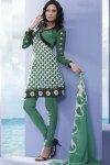 Pine Green Churidar Kameez Design 2010