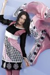 Black, white and pink Salwar Kameez