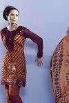 Brown Embroidered Shalwar Kameez