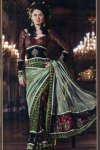 Embroidered Saree with Full Sleeve Blouse