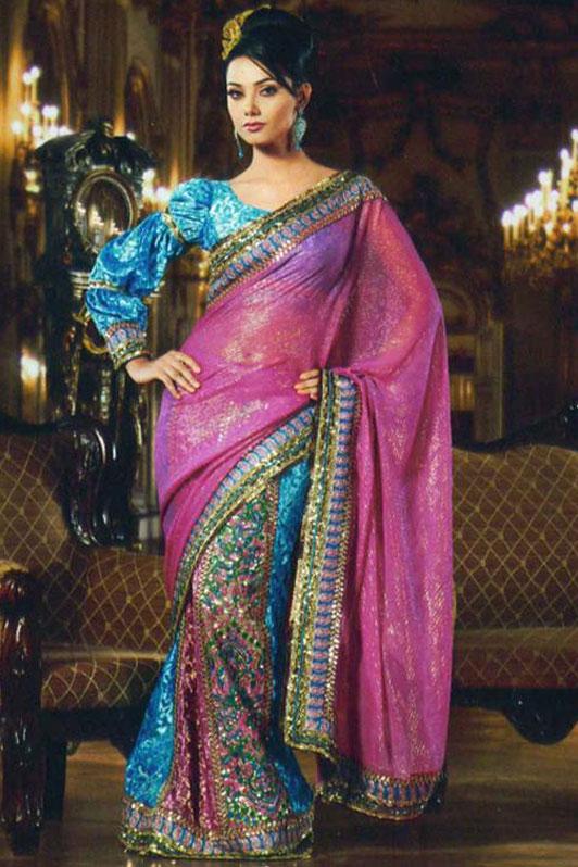 Gorgeous Saree with Designer Blouse piece