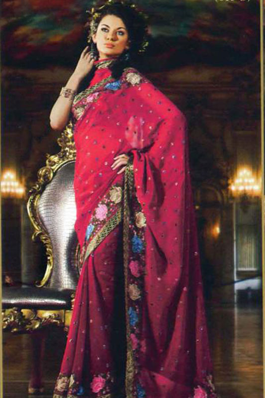 Red Wedding Saree on Sale