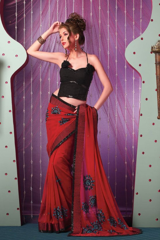 Latest Georgette Designer Sarees
