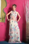 Latest Net Embroidered Party Saree