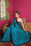 Latest Blue Georgette Saree