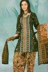Printed Fern Green Cheap Salwar Kameez