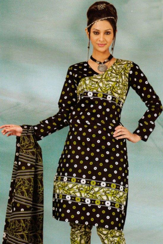 Chocolate Brown Cheap Cotton Salwar Kameez