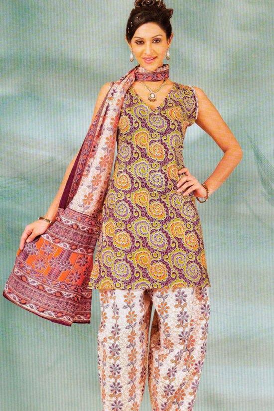 Casual Salwar Kameez with with Block Prints
