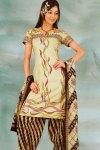 Printed Salwar Kameez in Cotton Fabric