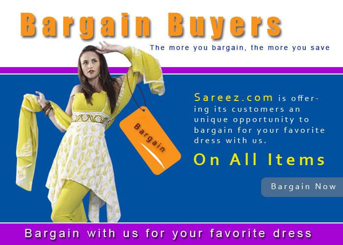 bargain on sarees, salwars and lehengas