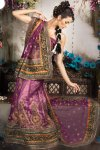 Embroiderd Lehenga Choli in Purple Color