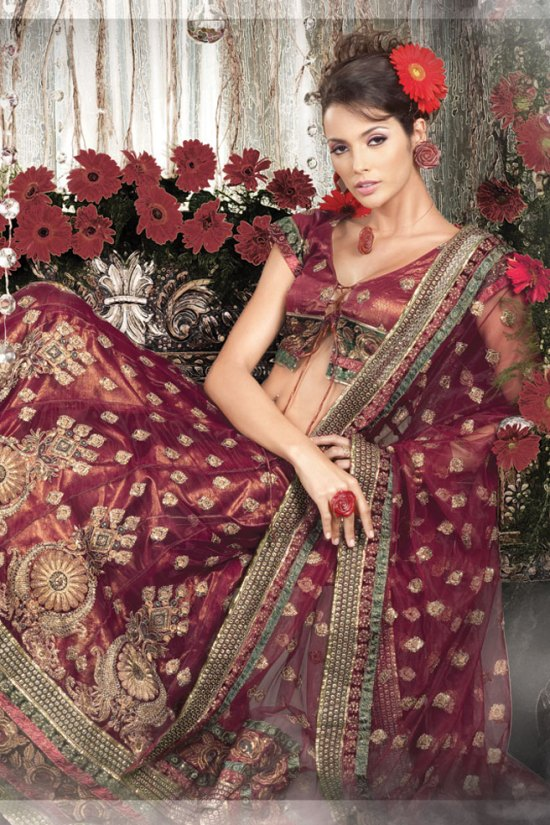 Maroon Wedding Lehenga Choli Collection