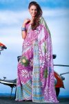 Latest Floral Digital Printed Saree 2010
