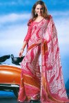 Faux Georgette Abstract Digital Printed Saree