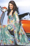 Newly Arrived Green Digital Printed Saree 2010