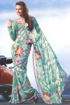 Latest Digital Abstract Printed Saree 2010